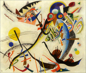 BLUE CIRCLE ABSTRATCT PAINTING BY WASSILY KANDINSKY REPRO