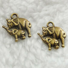 Free Ship 280 pieces bronze plated elephant charms 15x14mm #281
