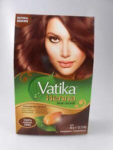Dabur Vatika Natural Brown Henna Hair Color Powder No