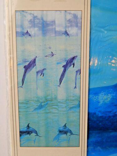 Alllure Shower Curtain Happy Dolphin 100/% Vinyl