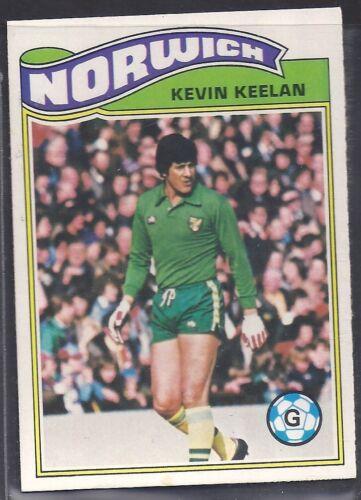 KEVIN KEELAN TOPPS-FOOTBALL ORANGE BACK 1978 -#181- NORWICH