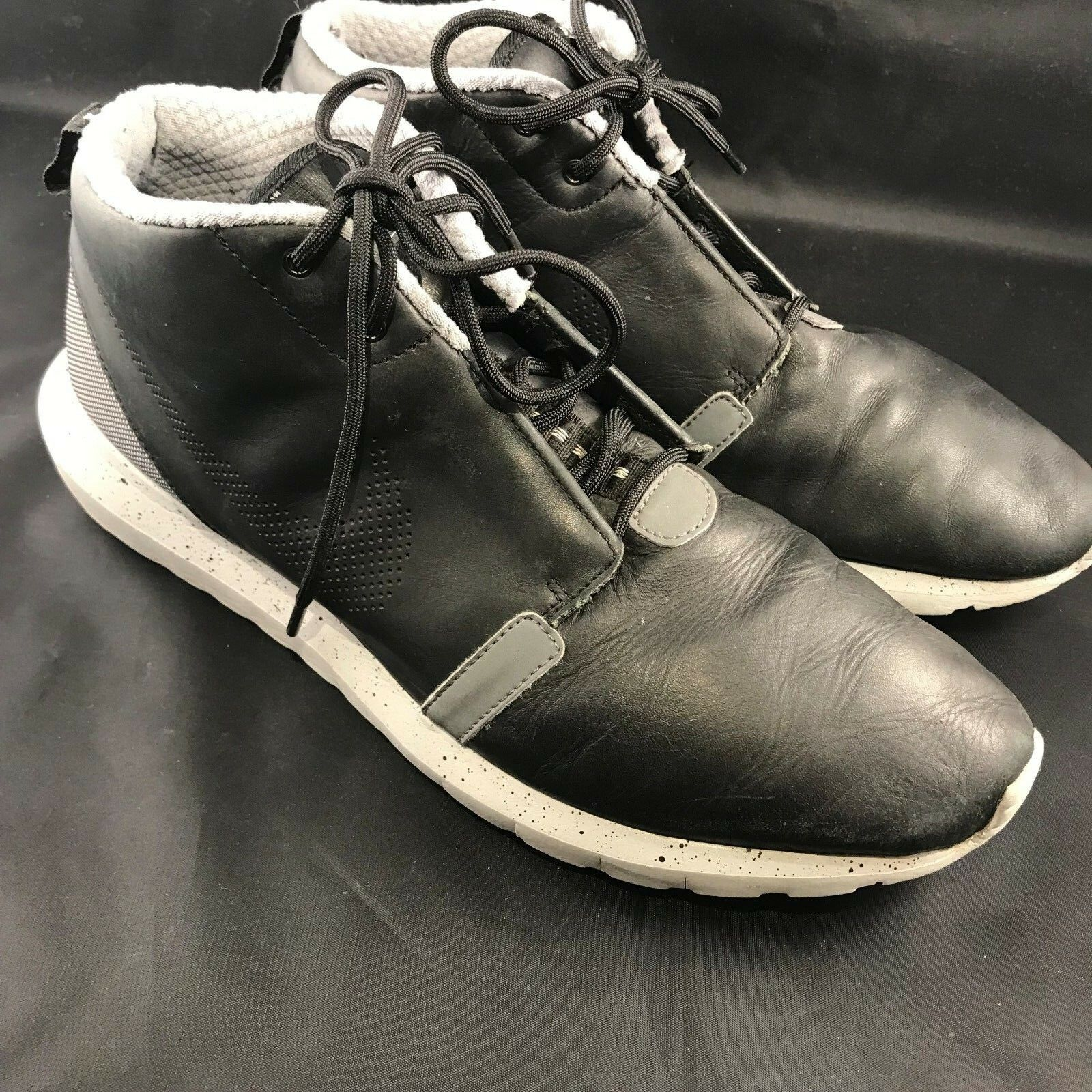 Rare Nike 11.5 Roshe Run NM Sneakerboot 684704-001 men's Sz 11.5 Nike black Gray Cement c40710