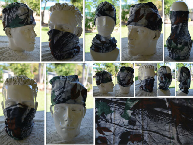 2x Head/Face/Mask/Neck Multi-wear tube Bandana/Durag.Scarf/Wrap.PACK OF 2  020