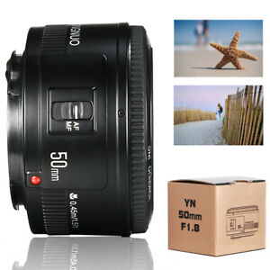 Yongnuo-YN-50mm-F1-8-AF-MF-Objetivo-Lentes-Lens-para-Canon-EF-EOS-Camaras-LF651