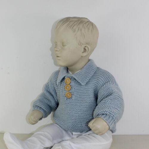 PRINTED KNITTING INSTRUCTIONS-BABY GARTER STITCH COLLAR SWEATER KNITTING PATTERN