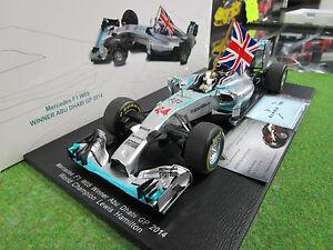 F1 Mercedes W05 #44 Gp Abu Dhabi 2014 Hamilton Drapeau Au 1/18 Spark 18s159