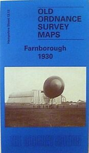 Old-Ordnance-Survey-Detailed-Maps-Farnborough-Hampshire-1930-Godfrey-Edition-New