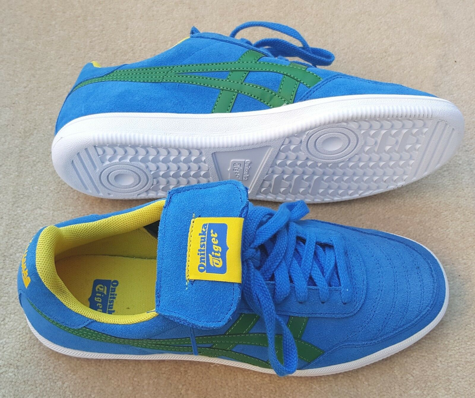 ASICS Onitsuka Tiger Suede Trainers Sports shoes bluee White Yellow