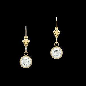 1ct-Created-Diamond-Bezel-Earrings-14k-Yellow-Gold-Over-Drop-Dangle-Leverback