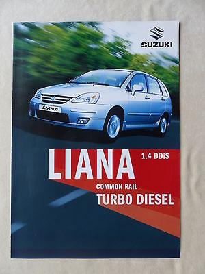 Appena Suzuki Liana 1.4 Ddis Turbo Diesel-prospetto Brochure 06.2004-