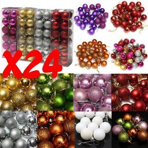 24x-Balle-Boule-Paillete-pour-Sapin-de-Noel-Fetes-Decoration-Ornament-Maison-3cm