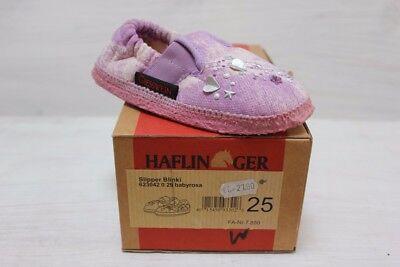 Haflinger Slipper Blinki Gr. 25 babyrosa