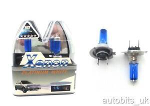 2-x-SUPER-BLANC-H7-bleu-AMPOULES-55W-BAS-Trempe-FAISCEAU-PHARE-Extension