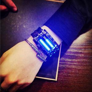 Luxury-Sport-Watch-Men-039-s-Women-Digital-LED-Bracelet-Watch-Date-Stainless-Steel