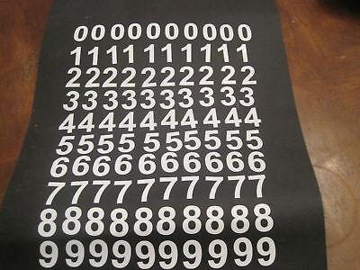 "Scrapbooking Frugal White Adhesive Vinyl Numbers 1/2"" High X 100"