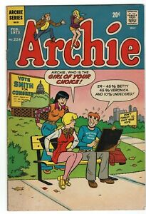 Archie-224-Archie-Feb-1973-Betty-Veronica-Jughead-VG-FN-5-0