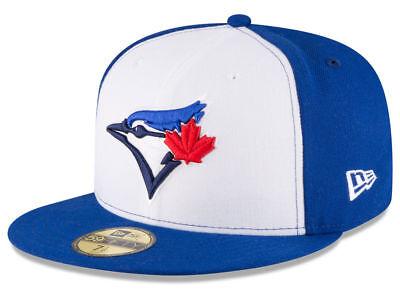 New Era 59Fifty Hat MLB Toronto Blue Jays Mens Black White Alt Bird 5950 Cap