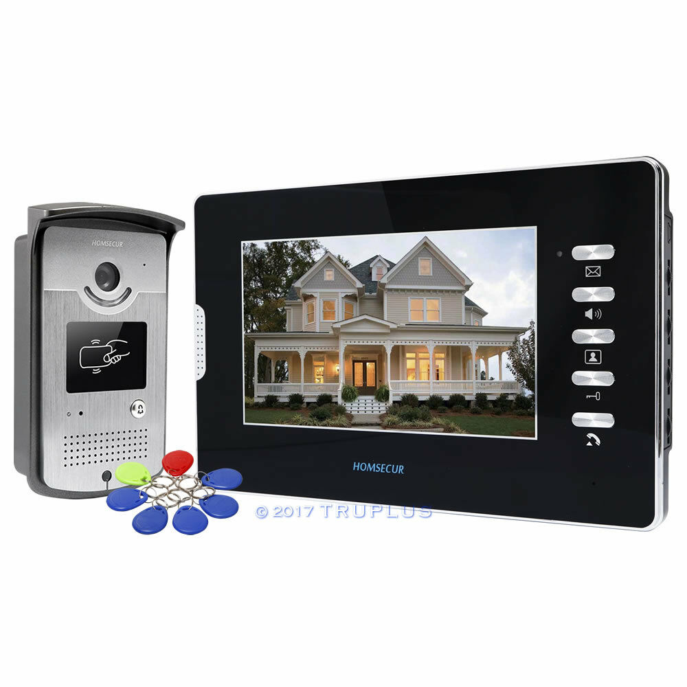 HOMSECUR 7  unidades de seguridad de entrada de puerta de video con visión nocturna IR & RFID desbloquear