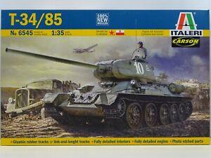 Italeri 6545 Modellbausatz Kampfpanzer T-34/85 mit Decals für 4 Versionen M.1:35