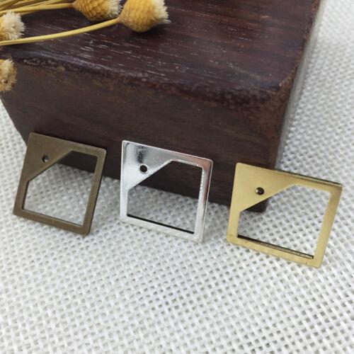 Brass Eardrop Geometry Earring Drop Copper Ear Ring Finding Teardrop Steampunk