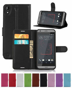 Wallet-Leather-Flip-Card-Case-Pouch-Cover-For-HTC-Desire-530-Genuine-AuSeller