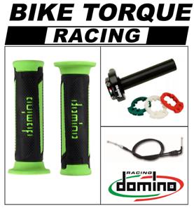 1130-Tre-K-Domino-XM2-kit-de-accion-rapida-acelerador-Negro-Verde-Tur-Grips