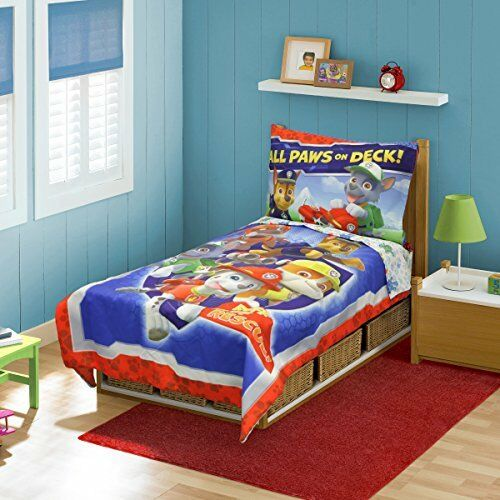 NEW Paw Patrol Toddler Bed Set Blue FREE SHIPPING