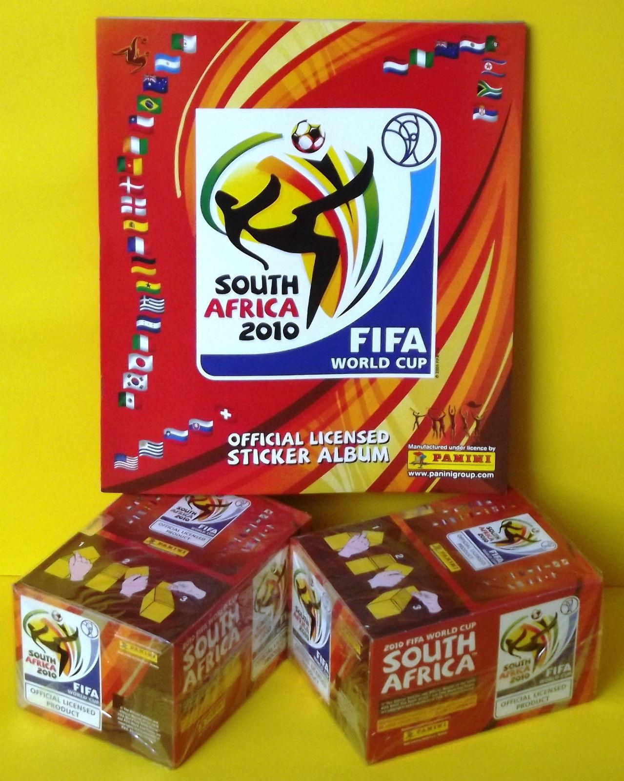 SOUTH AFRICA 2010 x2 CAJAS PRECINTADAS Y ALBUM CALIDAD PLANCHA WORLD CUP FIFA