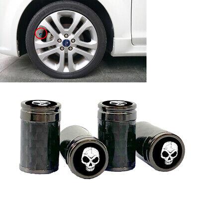 4x Car Valve Stem Cap Aluminum Tire Wheel Rim Dust Cover Logo fit Seat