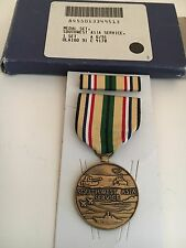 "U S MILITARY MEDAL 'SOUTHWEST ASIA SERVICE  MEDAL ""W/ RIBBON ( BOX DATED 6/91)"