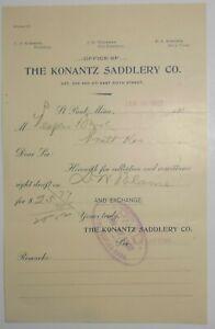1902-Letterhead-St-Paul-Minnesota-Konantz-Saddlery-Company