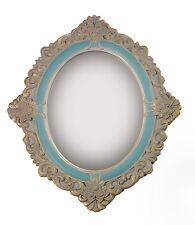 Charmanter Landhaus Holz Wandspiegel Spiegel antik Garderobenspiegel 59 cm gold