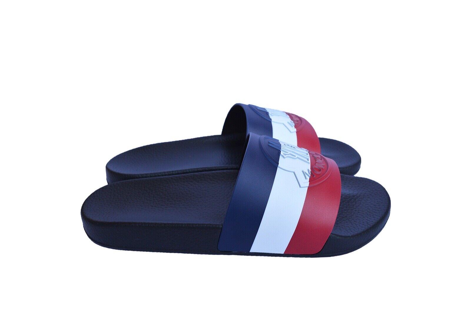 New Authentic MONCLER Mens Slippers Flip Flops Sz US12 EU45 UK11