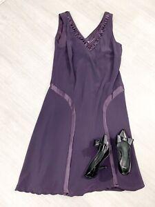 Chesca-ladies-Purple-Plum-Silk-Sleeveless-Dress-Size-18-Occasion-Party-Chr