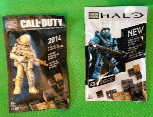 SDCC 2014 Mega Blocks Halo+Call of Duty MINI FIGURES EXCLUSIVE GHOSTS FIGURE