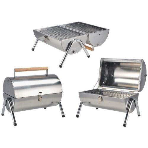 Pique-Barbecue de brillant poli en acier inoxydable avec double-Surface de grill charbon BBQ