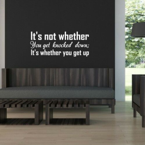 SPORT COOL WALL QUOTE VINYL ART STICKER STENCIL GRAPHIC IT/'S NOT WHETHER..