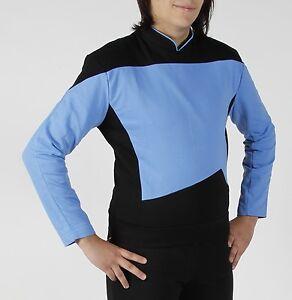 STAR-TREK-Uniform-TNG-blau-deluxe-NEU-ovp-XL-Next-Generation