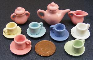 1-12-Scale-Ceramic-15-Piece-Multi-Coloured-Tumdee-Dolls-House-Tea-Set-2182