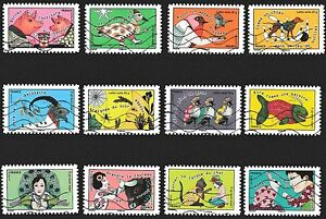 France-2015-Take-The-Bull-by-the-Horns-Complete-Set-of-Stamps-P-Used-S-A