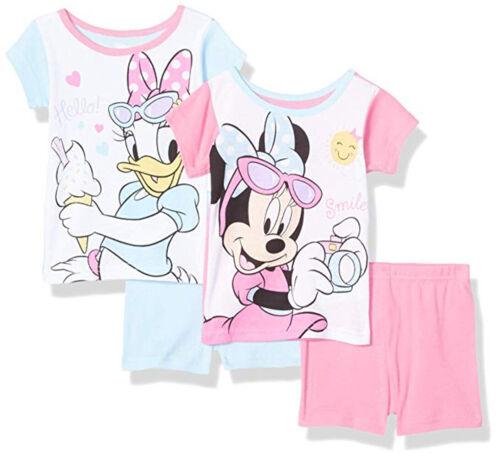 Minnie Mouse Toddler Girls Smile 4pc Snug Fit Pajama Short Set Size 2T 3T 4T