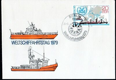 Deutschland 2405 Weltschifffahrtstag Schmerzen Haben Gehorsam Ddr 1979 Fdc Minr Ddr-ersttagsbriefe
