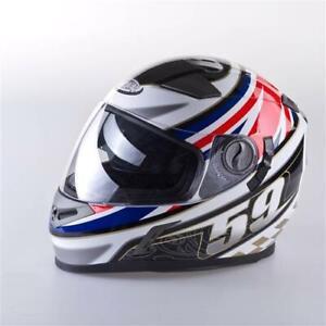 Viper Rsv9 Rs V9 Full Face Dvs Pinlock Motorcycle Helmet Uk 59 Flag Design Ebay