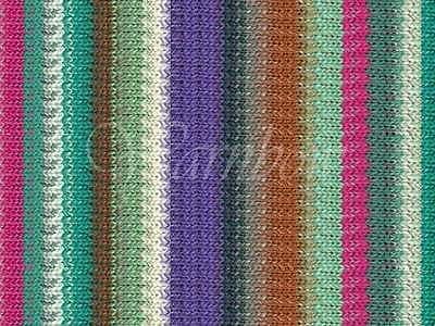 NORO ::Taiyo Sport #16:: cotton silk wool yarn 40% OFF! Emerald-Violet-Browns