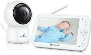 HeimVision Baby Monitor 1080P Telecamera Neonato con LCD Schermo da 5 Pollici...