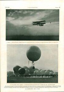 Publicité ancienne avion la conquête de l'air 1908 issue de magazine
