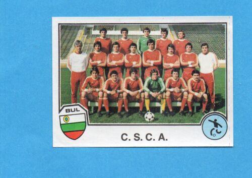 SPORT SUPERSTARS//EURO FOOTBALL 82-PANINI-Figurina n.140 TEAM-Rec C.S.C.A