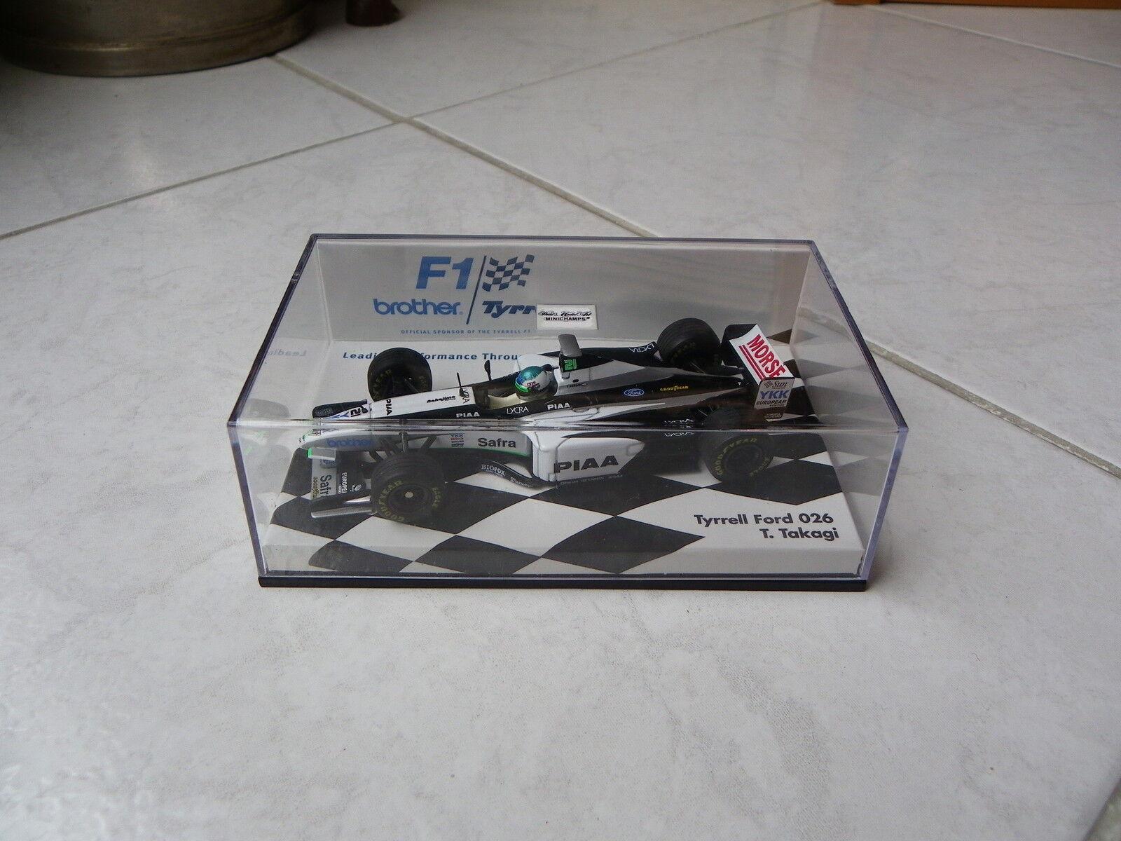 Tyrrell Ford 026 Tora Takagi n°21 Brougeher box Minichamps 1 43 1998 Formule 1 F1