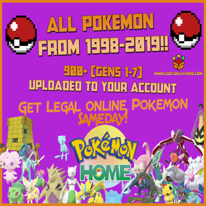 Pokemon Home Upload   Pokemon Ultra Sun & Ultra Moon All Gens 1-7