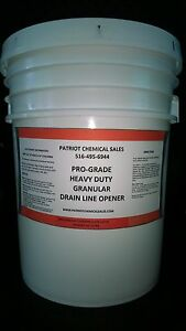 Crystal Drain Cleaner 20 Lbs Opener Patriot Chemical Sales